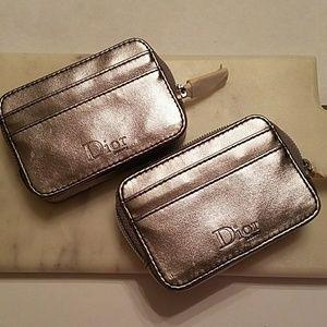 DIOR Diva VIP silver card case wallet 2x